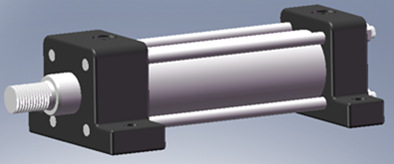脚座安装的低压拉杆液压缸的尺寸图及参数图片